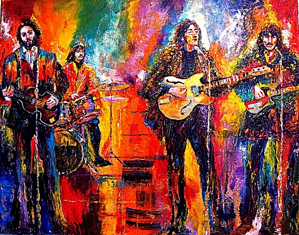 Beatles Painting Painting - Beatles Last Concert On The Roof by Leland Castro