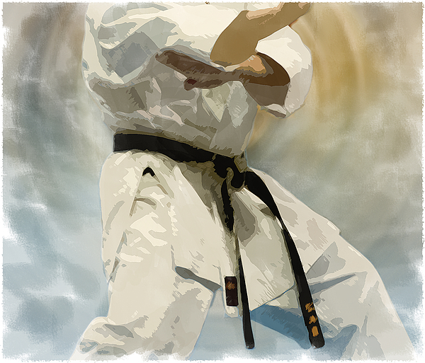 Karate Digital Art - Being A Black Belt by Deborah Lee