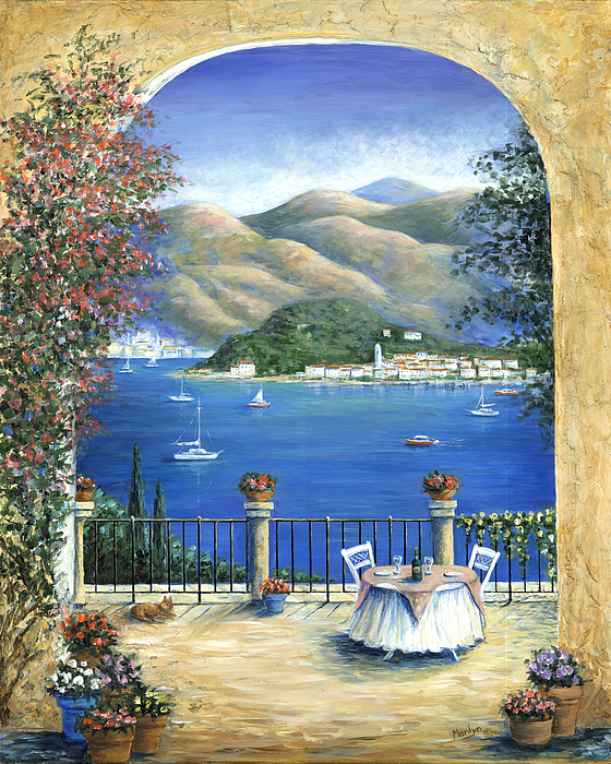 Bellagio Lake Como From The Terrace Painting