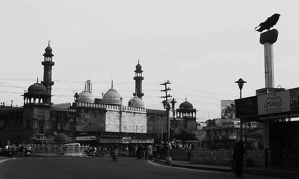 Moti Masjid Square Photograph - Bhopal by Mohammed Nasir