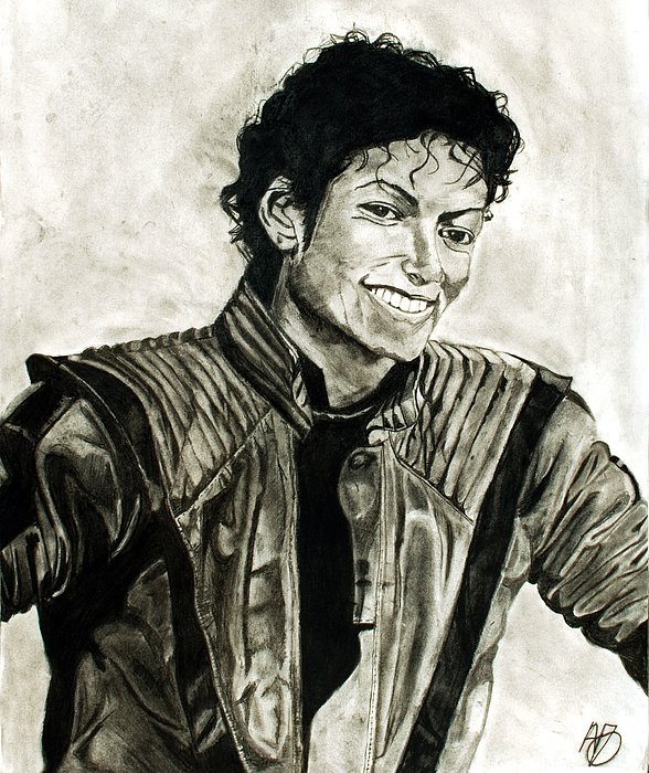 Michael Jackson Drawing - Black And White by Andrew Ormes