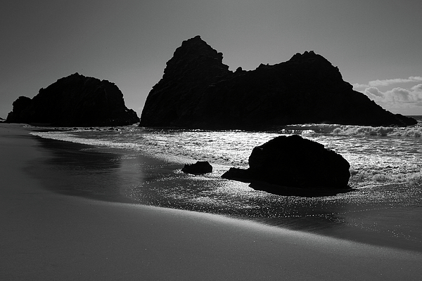 Black And White Big Sur Landscape Photograph