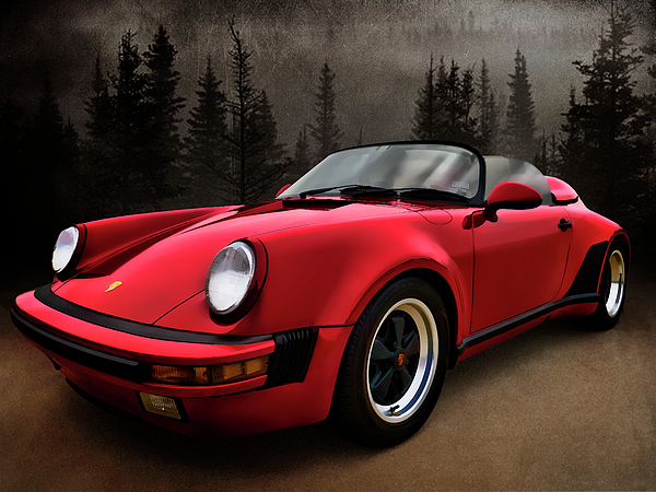 Black Forest - Red Speedster Print by Douglas Pittman
