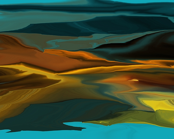 Fine Art Digital Art - Black Hills Abstract by David Lane