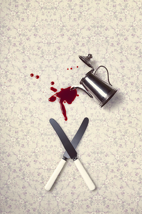 Knife Photograph - Bloody Dining Table by Joana Kruse