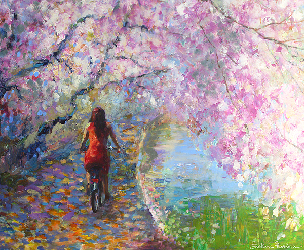 Blossom Alley Impressionistic Painting Painting