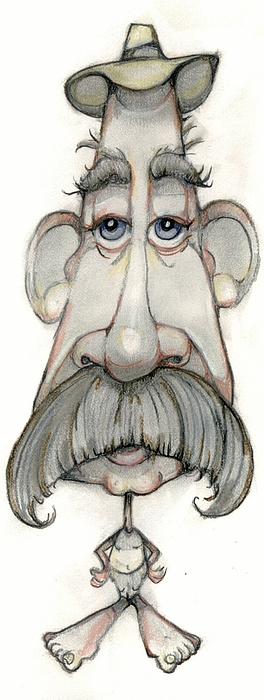 Man Drawing - Bobblehead No 65 by Edward Ruth
