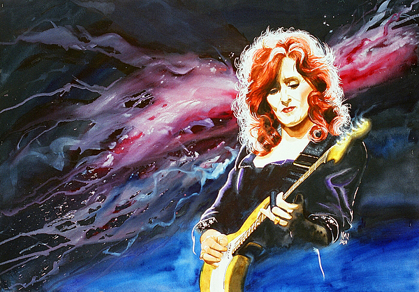 Women Painting - Bonnie Raitt by Ken Meyer jr