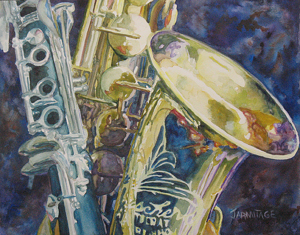 Sax Painting - Bouquet Of Reeds by Jenny Armitage