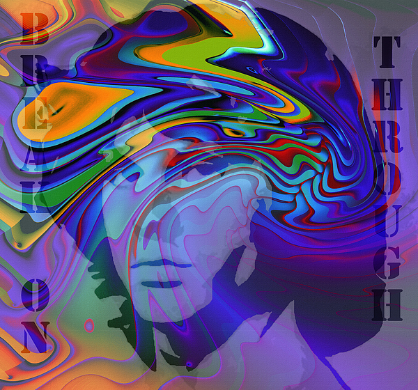 Digital Painting Jim Morrison The Doors Break On Through Expressionism Impressionism 60s 70s Immortal Portrait Man Young Male Songwriter Singer Painting - Break On Through Two by Steve K