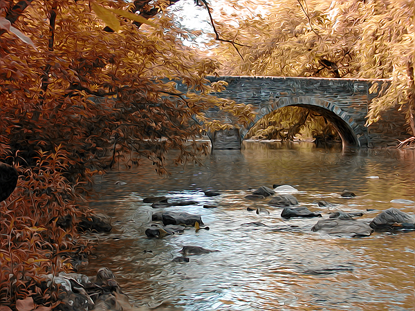 Bridge Over The Wissahickon At Valley Green Photograph - Bridge Over The Wissahickon At Valley Green by Bill Cannon
