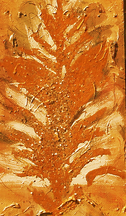 On Wood. Painting - Bronze Roots II by Anne-Elizabeth Whiteway