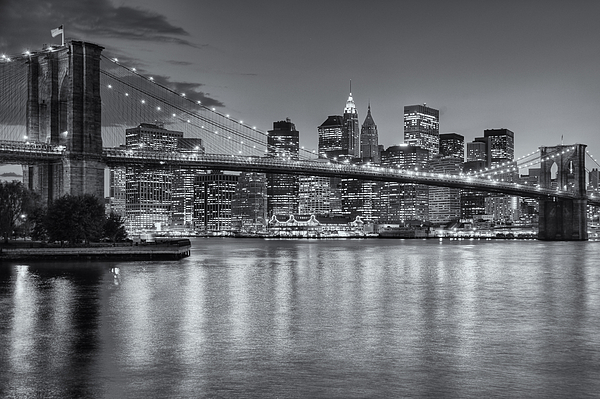 Clarence Holmes Photograph - Brooklyn Bridge Twilight II by Clarence Holmes