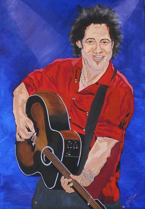 Brice Springsteen Paintings Painting - Bruce Springsteen-an American Boy by Bill Manson