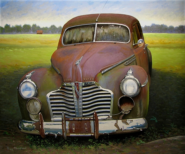 Doug Strickland Painting - Buick Eight by Doug Strickland