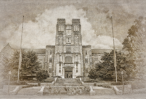 Campus Photograph - Burruss Hall Series II by Kathy Jennings