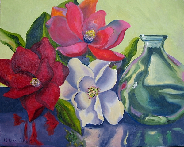 Flowers Painting - Burst Of Color by Lisa Boyd
