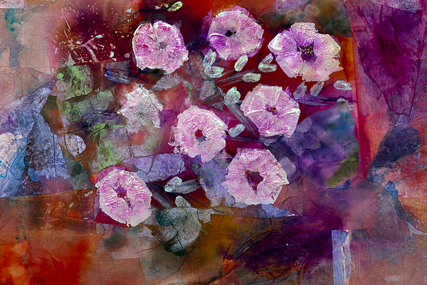 Abstract Wildflow Painting - Bush Morning Glory by Don  Wright