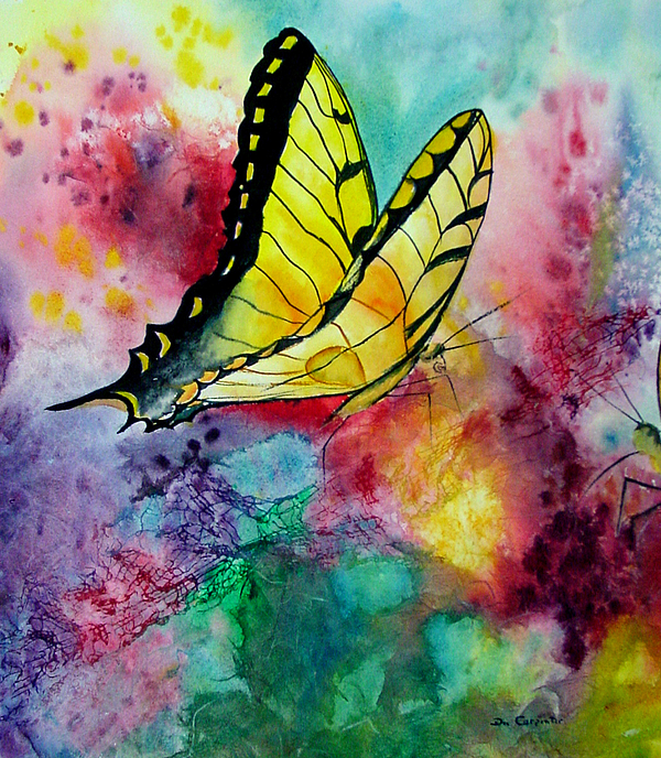 Watercolor Painting - Butterfly 2 by Dee Carpenter