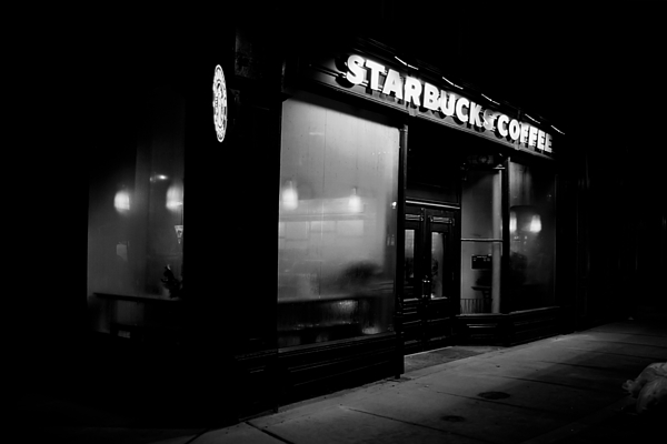 Night Photograph - Cafe At Night  by Andrew Fare
