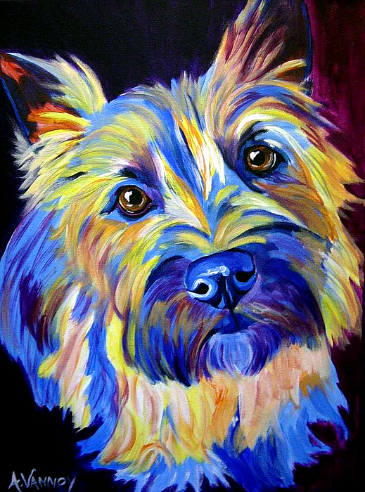 Dog Painting - Cairn - Neiman by Alicia VanNoy Call