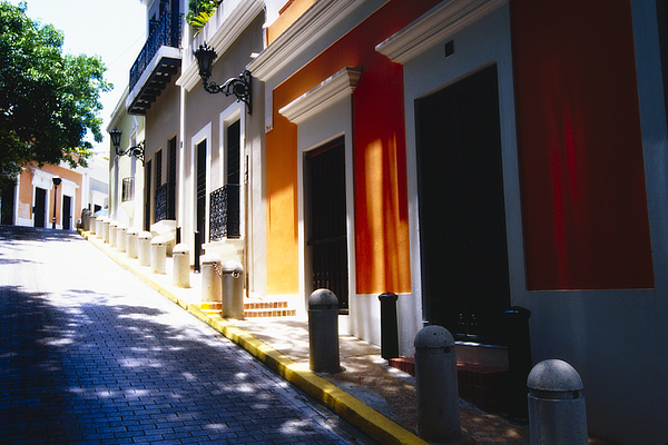 Street Photography Photograph - Calle Del Sol Old San Juan Puerto Rico by George Oze