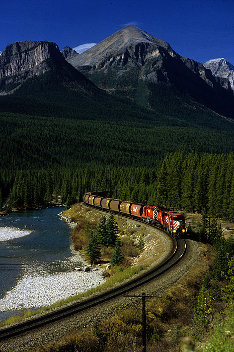 Train Photograph - Canadian Railroad by Susan  Benson