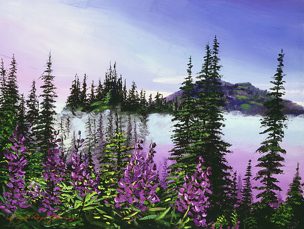 Mountains Painting - Canadian Sunrise by David Lloyd Glover