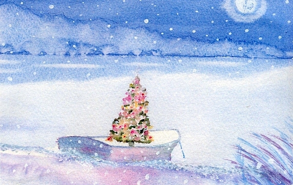 Cape Cod Painting - Cape Cod Christmas Tree by Joseph Gallant