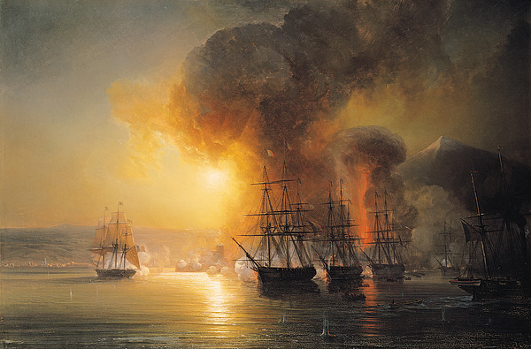 Capture Painting - Capture Of The Fort Of Saint Jean Dulloa On 23rd November 1838 by Jean Antoine Theodore Gudin