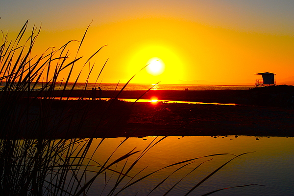 Sunset Photograph - Carpinteria State Beach by Bransen Devey