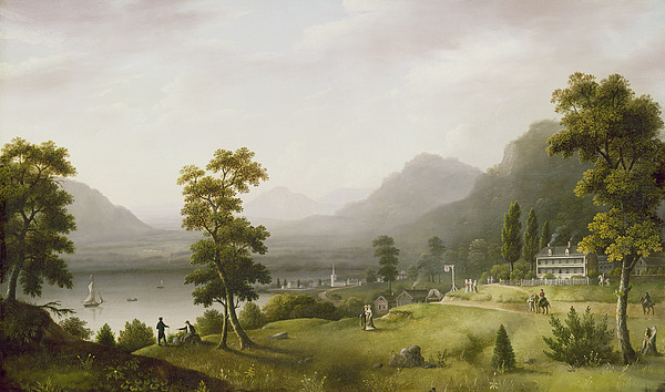 Carters Tavern At The Head Of Lake George Painting