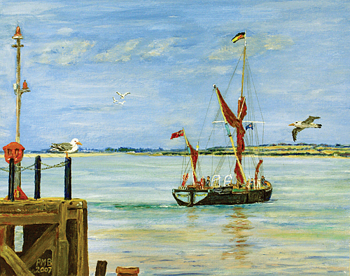 Seascape Painting - Catching The Tide by Peter Mark Butler