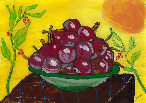 Cherry Bowl Painting - Cherry Bowl by Enrico Pischiera