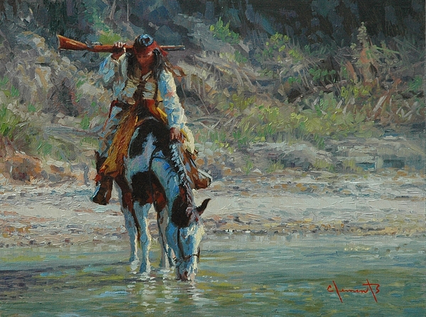 America Painting - Chiracahua by Jim Clements