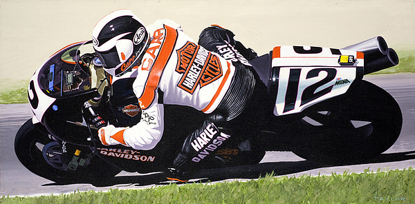 Chris Carr Painting - Chris Carr Harley-davidson Vr1000 Superbike by Jeff Taylor