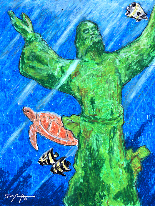 Christ Of The Deep Mixed Media - Christ Of The Deep by William Depaula
