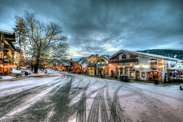 Christmas On Main Street Print by Brad Granger