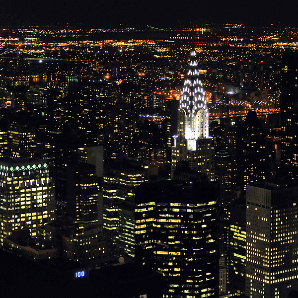 Vertical Photograph - Chrysler Building At New York City by Philippe Brunel