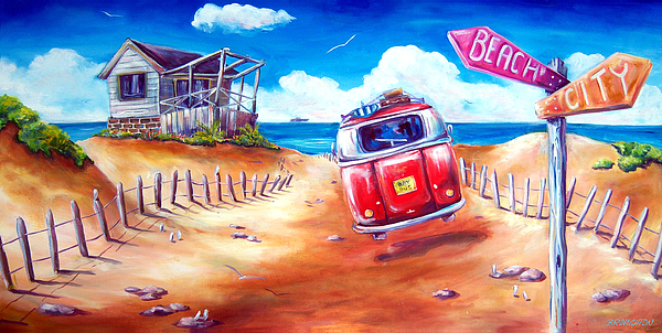 Surf Painting - City 2 Surf by Deb Broughton