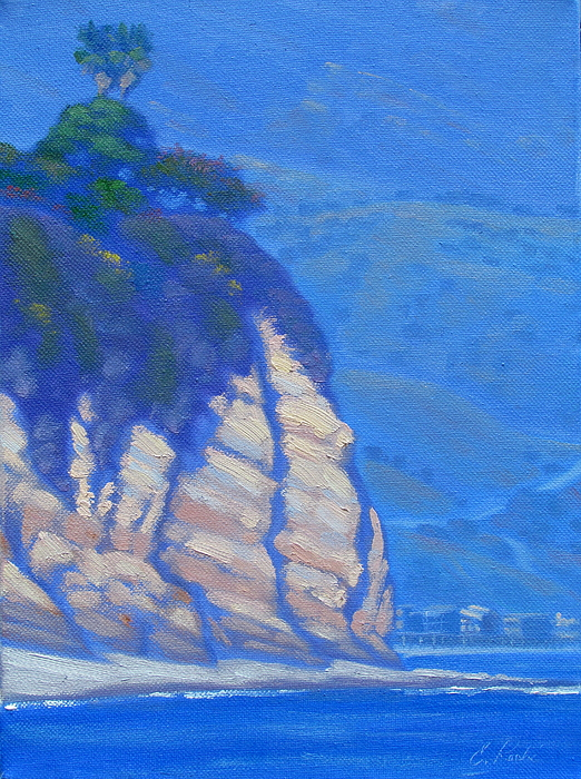 Painting Painting - Cliffs At Point Dume by Elena Roche