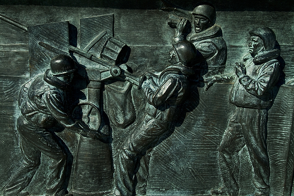 Close View Of Bronze Relief Sculpture Photograph