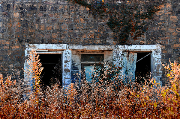 Rustic Photograph - Closed til Spring by Lyle  Huisken