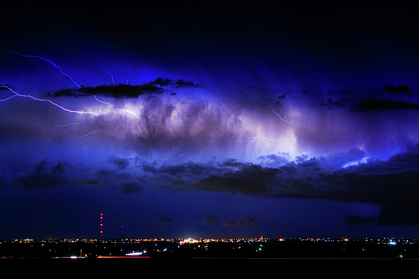 Bouldercounty Photograph - Cloud To Cloud Lightning Boulder County Colorado by James BO  Insogna