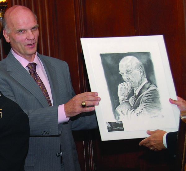 Coach Phil Martelli With Portrait Drawing