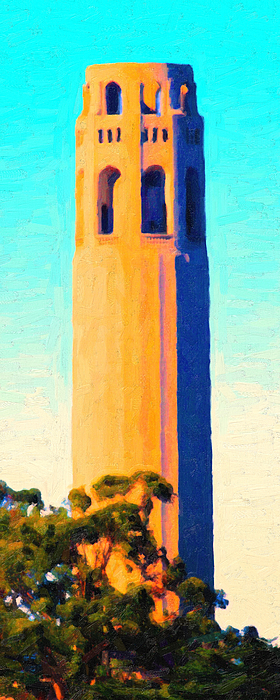 Coit Tower San Francisco Print by Wingsdomain Art and Photography
