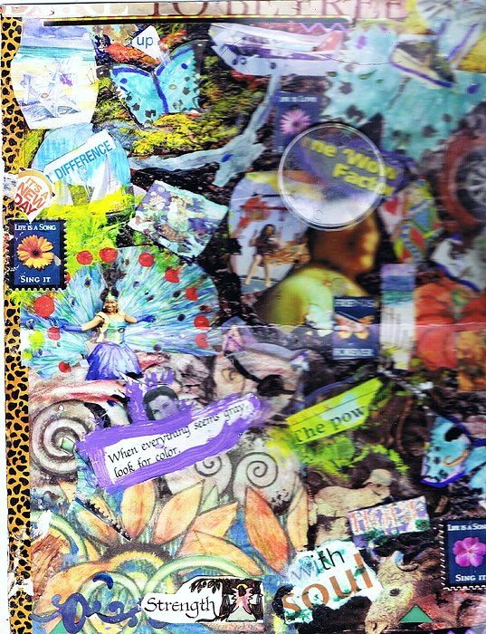 Collage In Progress Mixed Media - Collage For Sisters Only by Anne-Elizabeth Whiteway