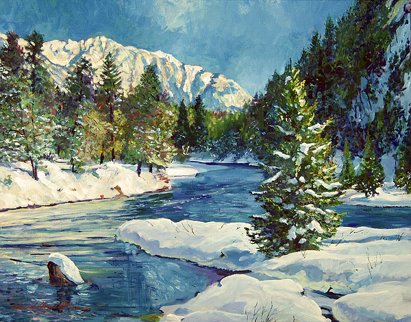 Landscape Painting - Colorado Pines by David Lloyd Glover