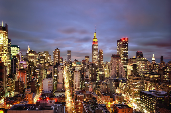 New York Photograph - Colors Of The Night by Evelina Kremsdorf