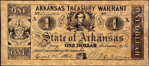 1862 Photograph - Confederate Banknote by Granger